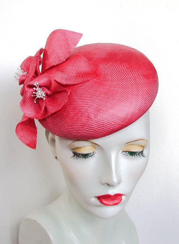 Pin by Sara Mackus on Red   Pink fascinators  38bbf1a23c9