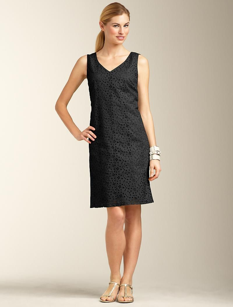 Talbots Floral Eyelet Sheath Apparel Black Or White Clothes For Women Clothes Fashion [ 1057 x 800 Pixel ]