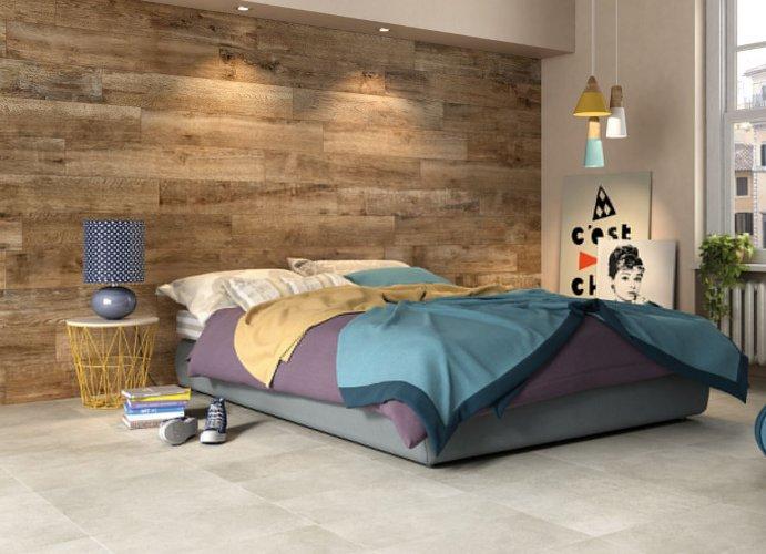 Carrelage effet lambris pour la tête de lit en 2020 | Décoration maison, Carrelage imitation ...