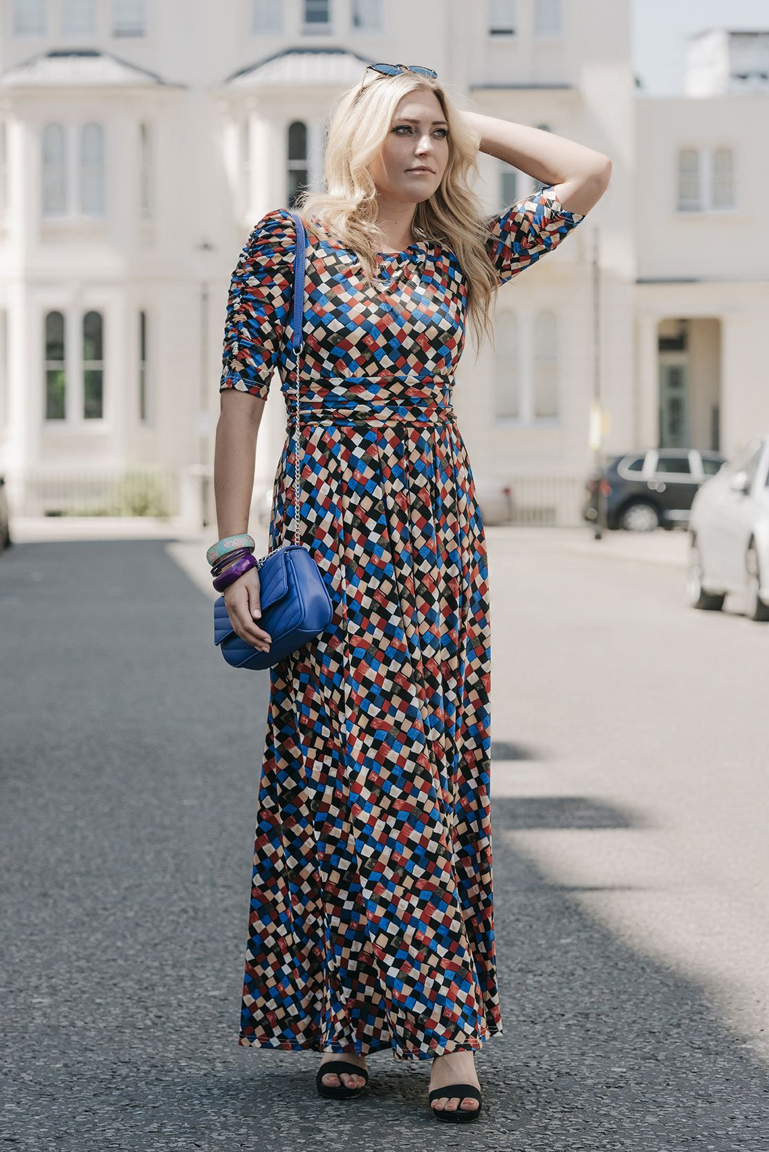 Jolie Moi Half Sleeve Maxi Dress Black Multi Create A Flowing Silhouette In This Statement Maxi Dres Maxi Dress With Sleeves Clothes For Women Maxi Dress [ 1666 x 1112 Pixel ]
