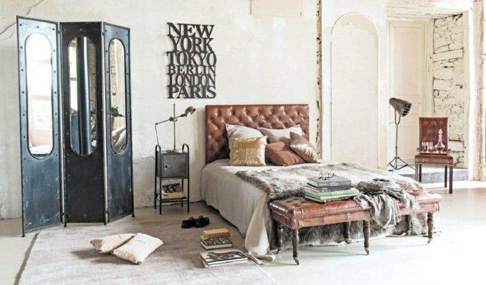 deko ideen schlafzimmer vintage dekoration schlafzimmerbank