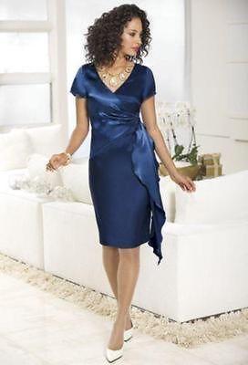 1d7de8d5ad8fe Monroe-Main-Brand-New-Satin-Doll-Holiday-Dress-Plus-Size-16W-1X-Formal- Wedding