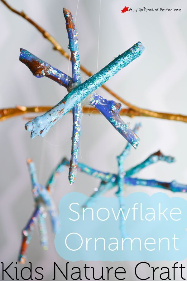 Snowflake Ornament Winter Crafts With Sticks For Kids Christmas