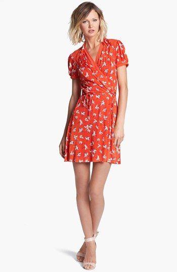 37bdb46d60 Juicy Couture  Feather Iris  Silk Wrap Dress