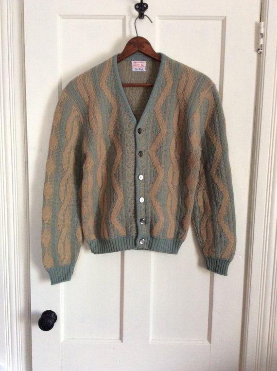 Vintage Wool Cardigan. Size: Small jFqQZ