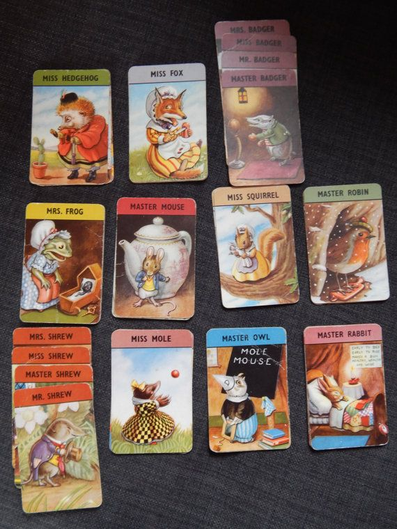 Vintage 1940s 1950s happy families card game complete 44 cards vintage 1940s 1950s happy families card game complete 44 cards cute pictures for crafting or card colourmoves