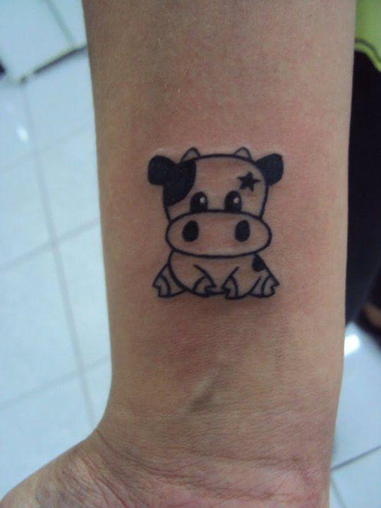 1b47578ffbc0c little cow Clever Tattoos, Cute Tattoos, Panda Tattoos, Small Tattoos,  Tatoos,