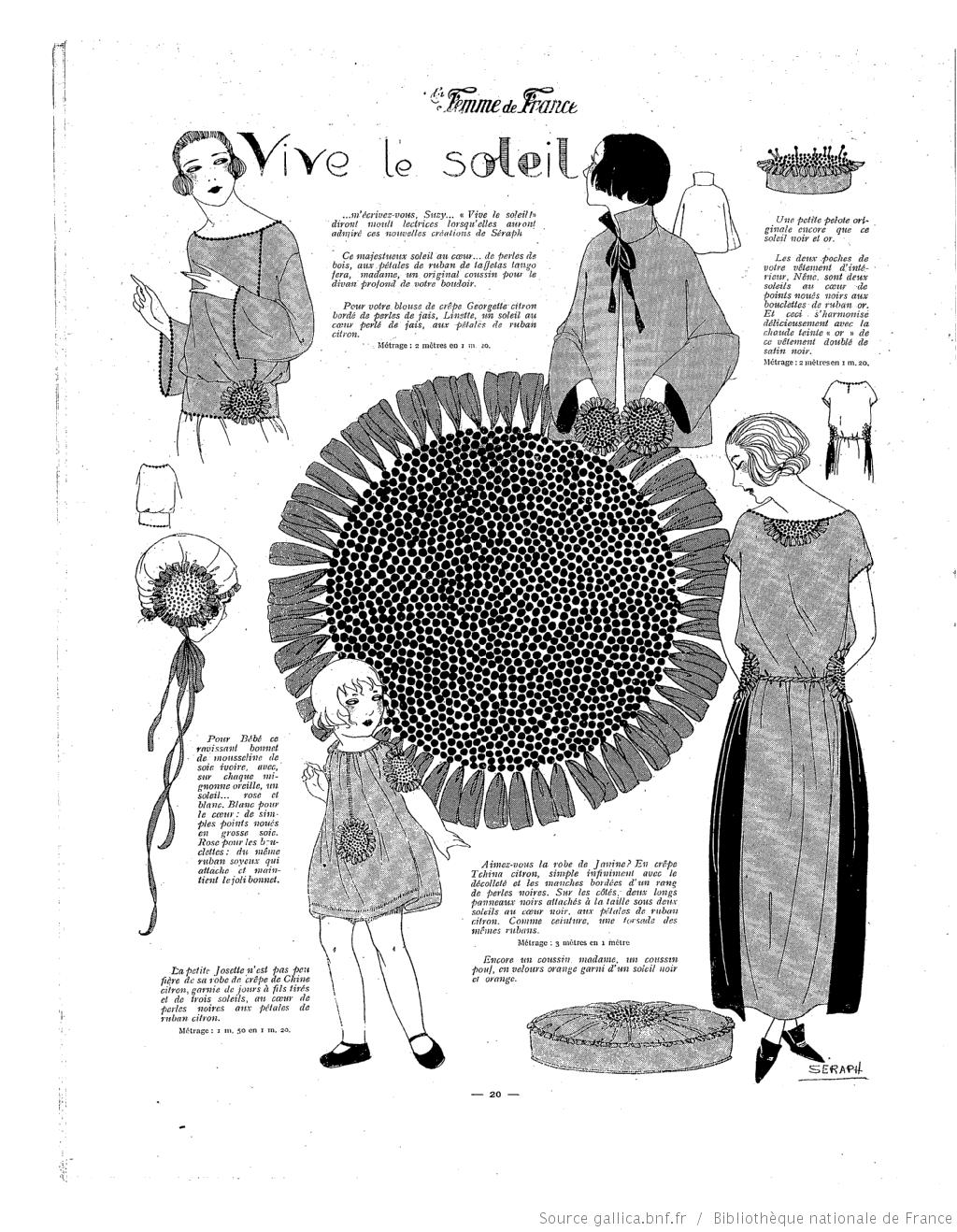 Les Modes de la femme de France | Vintage crafts | Pinterest | Bordado