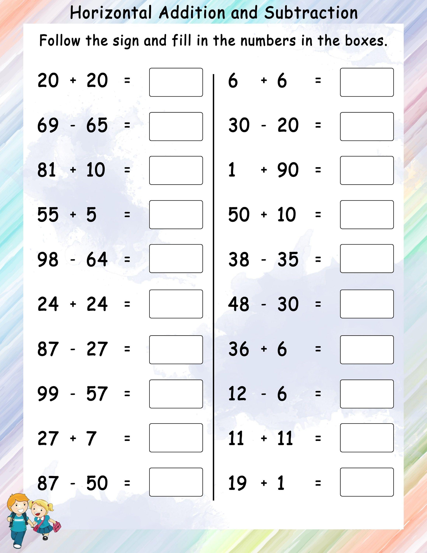 Addition Worksheets For Grade 1 Subtraction Worksheets Addition And Subtraction Worksheets Addition Worksheets