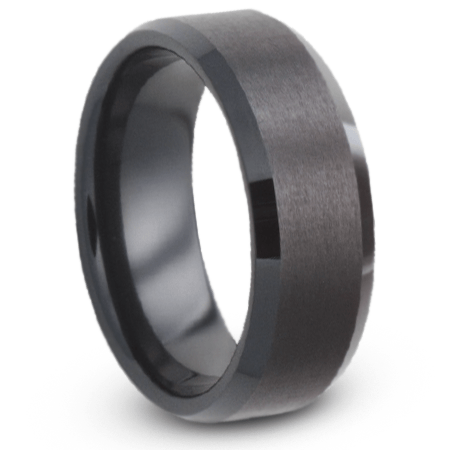 Mens Wedding Band With Satin Finish Black Ceramic Ring Jirmca004517 In 2020 Black Ceramic Ring Mens Wedding Bands Mens Wedding Rings