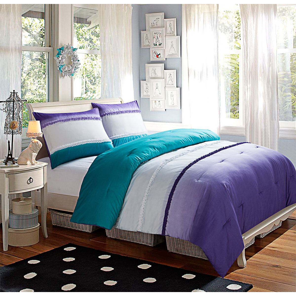 luxury ralph comforter pinterest design of l best on images grace linens and concerning white bed bedding lauren gallery blue ombre