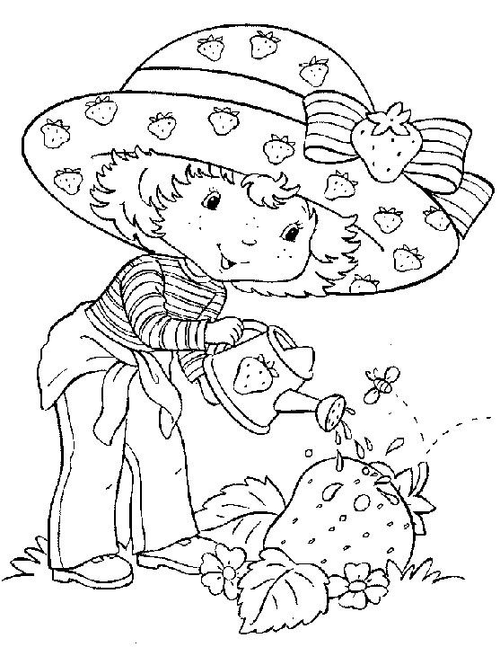 coloriage charlotte jardine - Dessin Pour Fille