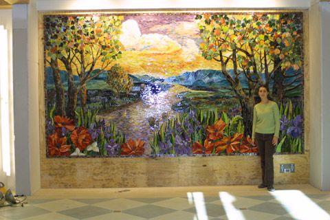 """Chippewa Creek"" mosaic mural by Yulia Hanansen"