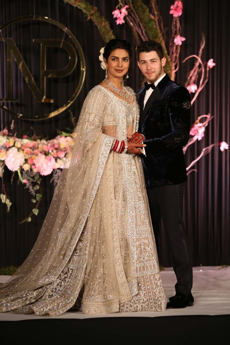 Priyankachopra Nickjonas In Reception Outfits Stylish Wedding Dresses Latest Bridal Dresses Indian Wedding Gowns