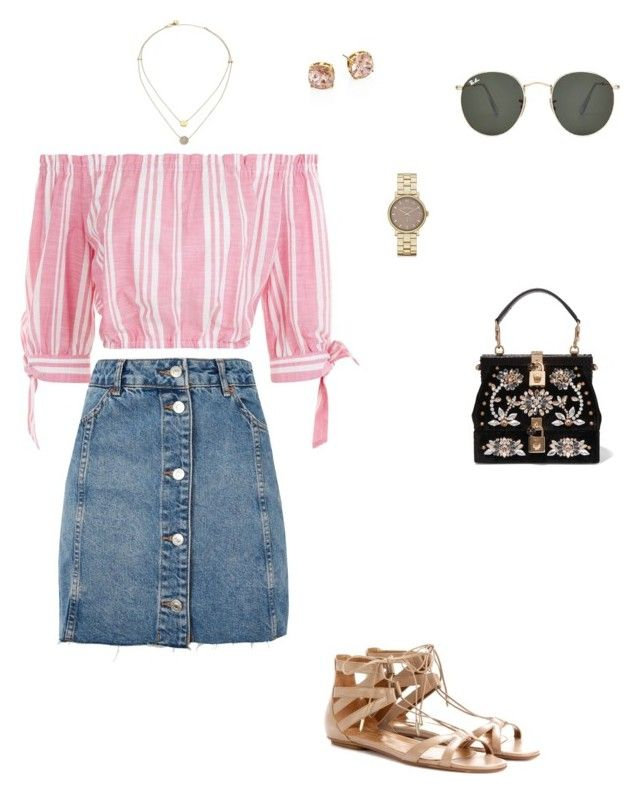 """Sin título #480"" by lia-zenvela on Polyvore featuring moda, Topshop, Aquazzura, Dolce&Gabbana, Michael Kors, Tory Burch, Marc by Marc Jacobs y Ray-Ban"