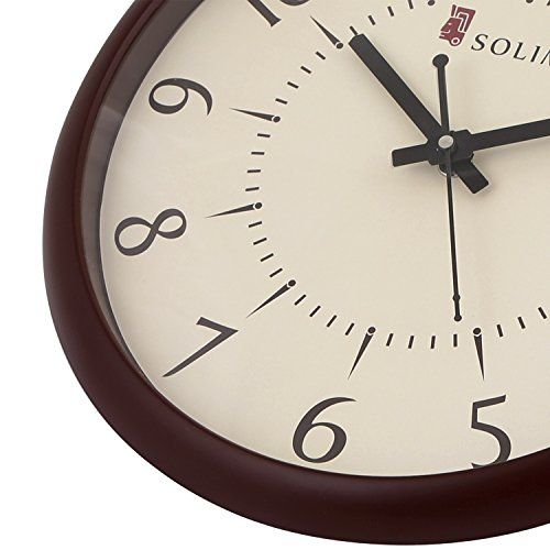 Amazon Brand Solimo 11 Inch Wall Clock Silent Movement Brown Frame Clocks Home And Kitchen Wall Clocks Home And Decor Best News And Deals Wall Clock Silent Wall Clock Clock