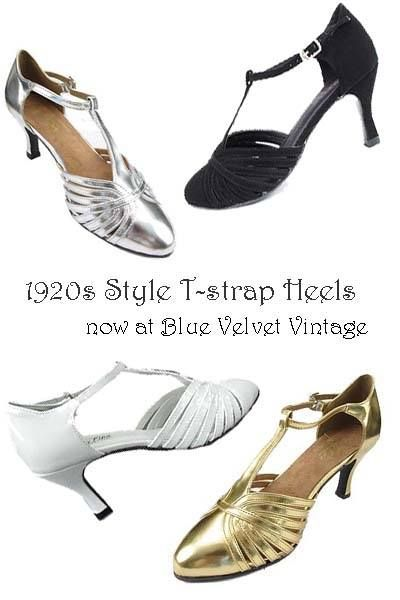 Our new 20s style T-Strap heels are the Bees Knees! Perfect shoe for Gatsby, Downton Abbey and Flapper looks. See our New Arrivals page for more details! http://www.bluevelvetvintage.com/new-arrivals-blue-velvet-vintage.html
