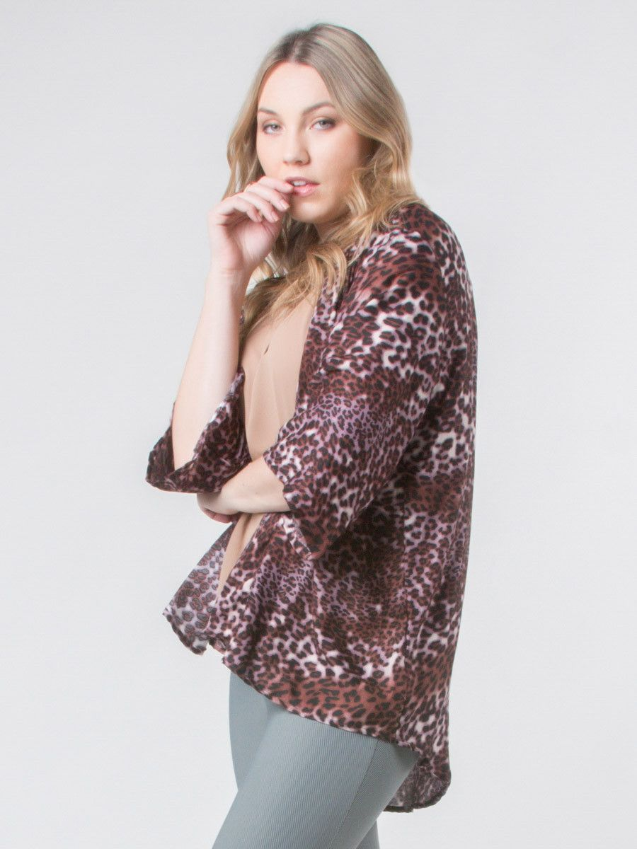 Amur Leopard Burgundy Kimono Cardigan | Products | Pinterest ...