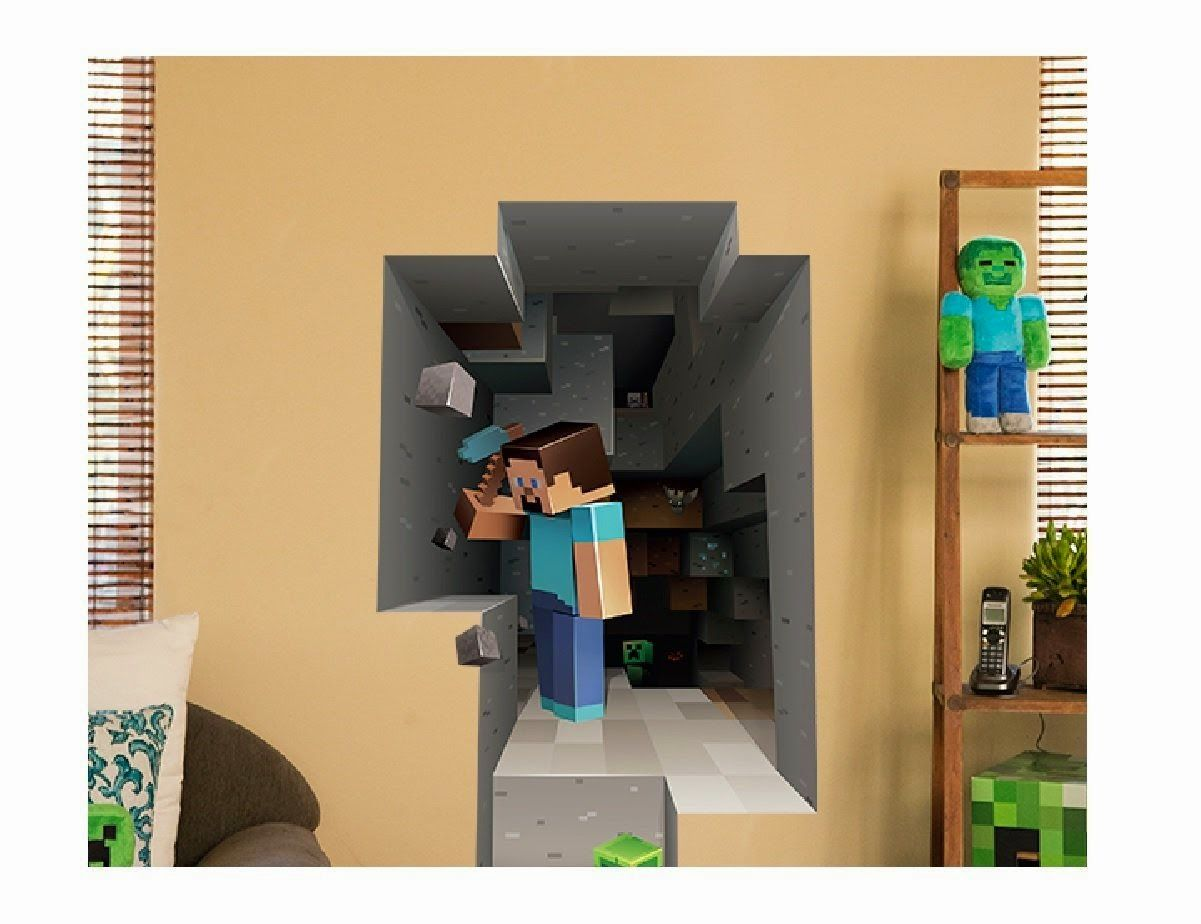 Exceptional Minecraft Vinyl Wall Sticker Decal Home Steve Mining Bedroom Wallpaper Decor