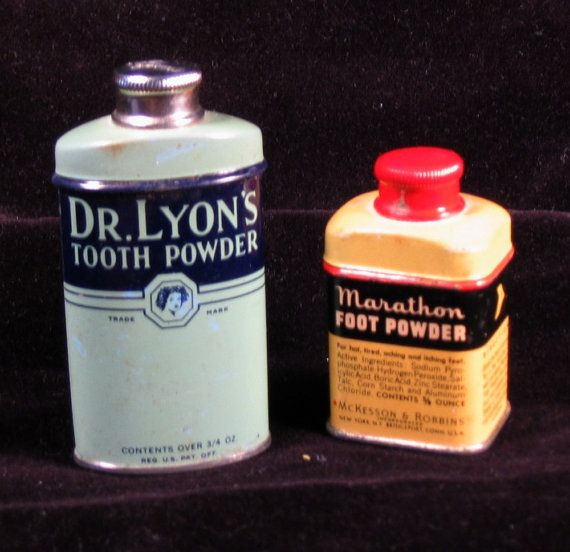 Two Small Metal Tins from the 1940s  Dr. Lyons by DebrasAttic