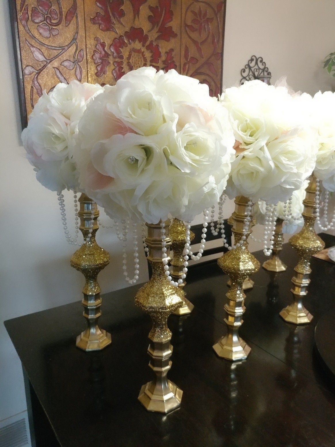 Dollar Store Candle Holders Wedding Centerpieces
