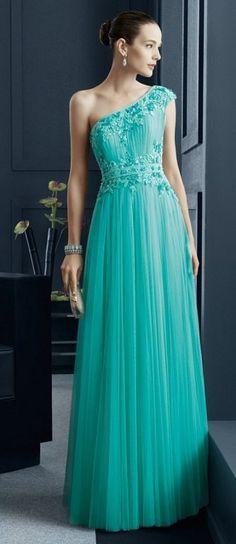 Vestido de noche verde jade raymond | Ropa | Pinterest