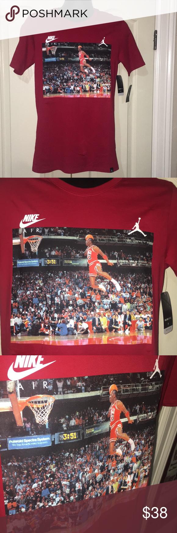 a409273cc53 Air Jordan Free Throw Line Dunk Shirt Red Black Nike Air Jordan Free Throw  Line Dunk