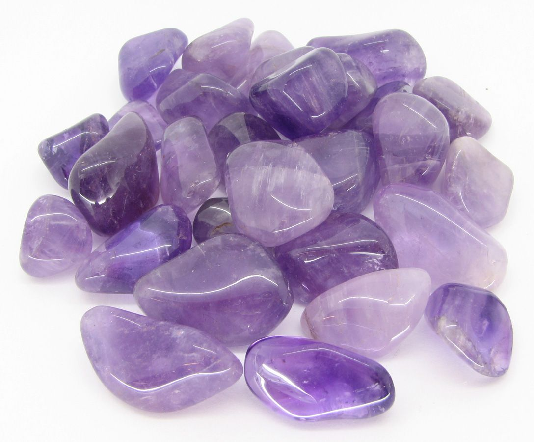 the different colors of amethyst from light purple to