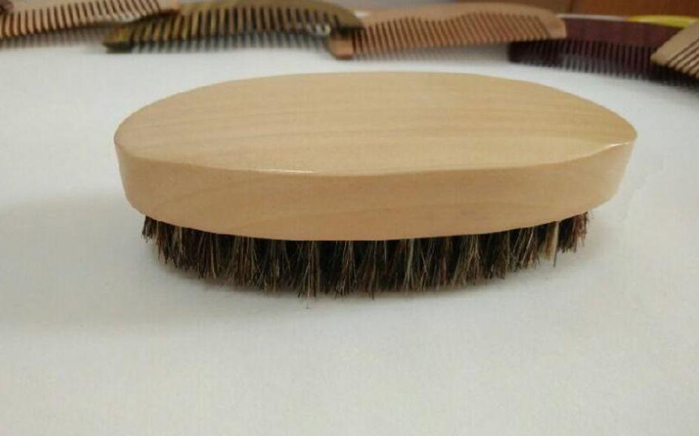 Reale Setole di Cinghiale In Legno Pennello Da Barba Portatile ovale Pennello Per Barba Baffi Viso Massaggio