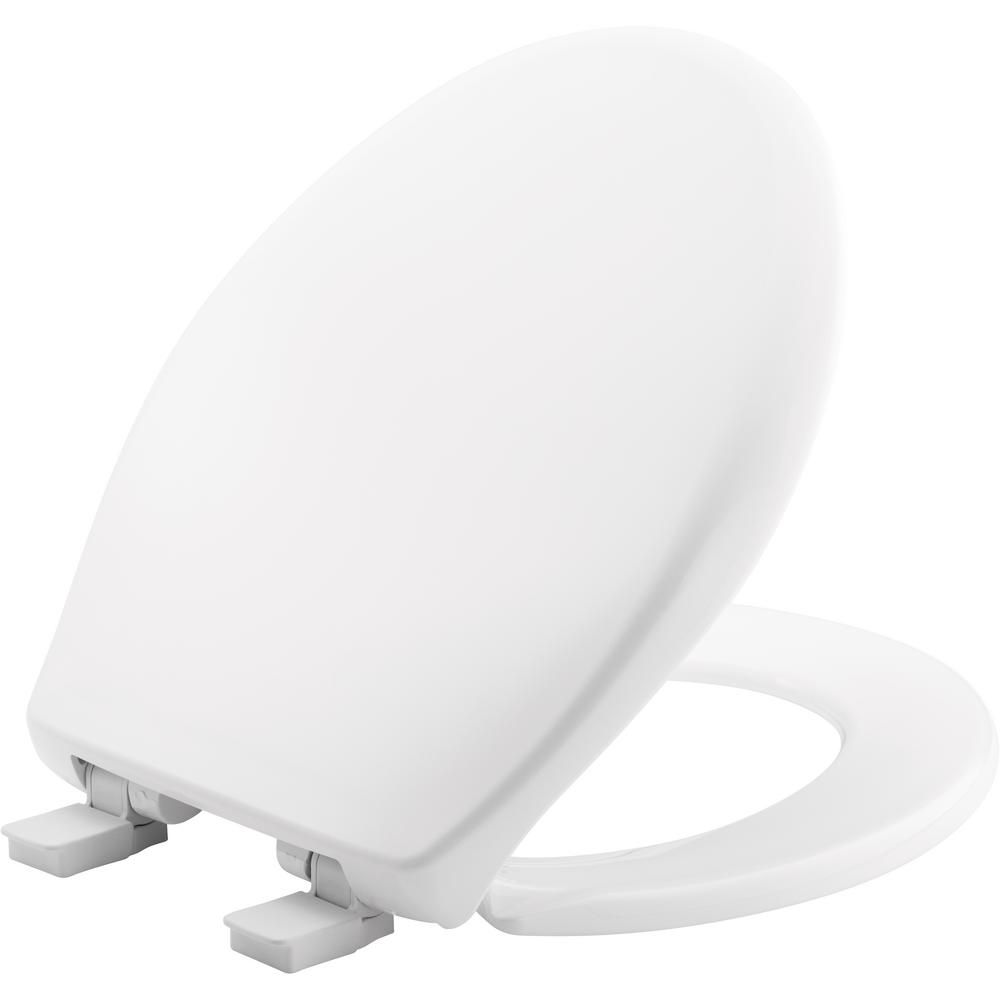 Church Affinity Round Closed Front Toilet Seat In Cotton White