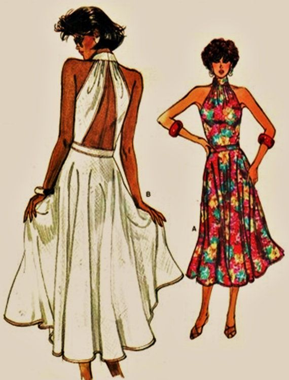 Very Easy Vogue Pattern 9541 Backless Summer Dress By