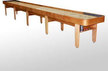22u0027 Honey Finish Tournament II Shuffleboard Table, Grand Rapids   McClure  Tables