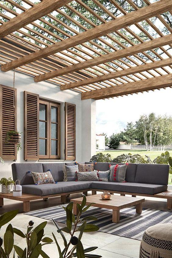 Plus De 26 Idees De Terrasse Pour Embellir Votre Maison Avec Un Budget Limite En 2020 Avec Images Decoration Balcon Deco Exterieur Jardin Terrasse Jardin