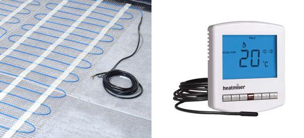 Under Floor Heating Mat And Thermostat Underfloor