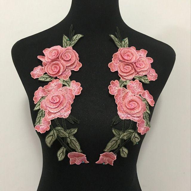 Kupowac 2 Sztuk Zestaw Rose Flower Naklejki Na Ubrania Laty Hafty