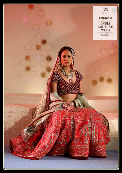 A royal bride adorning regal Sunar Jewels jewellery and the Kashish Collection by Anju Modi