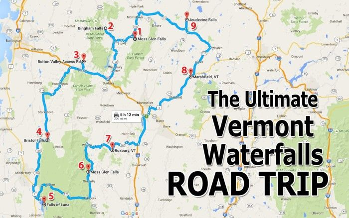 The Ultimate Vermont Waterfall Road Trip Is Right Here And You - Us map vermont