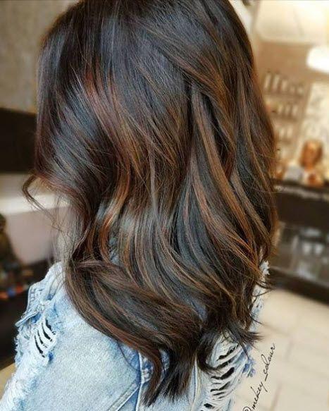 Dark Brunette With Lowlight Bayalage Mekey Colour Hair