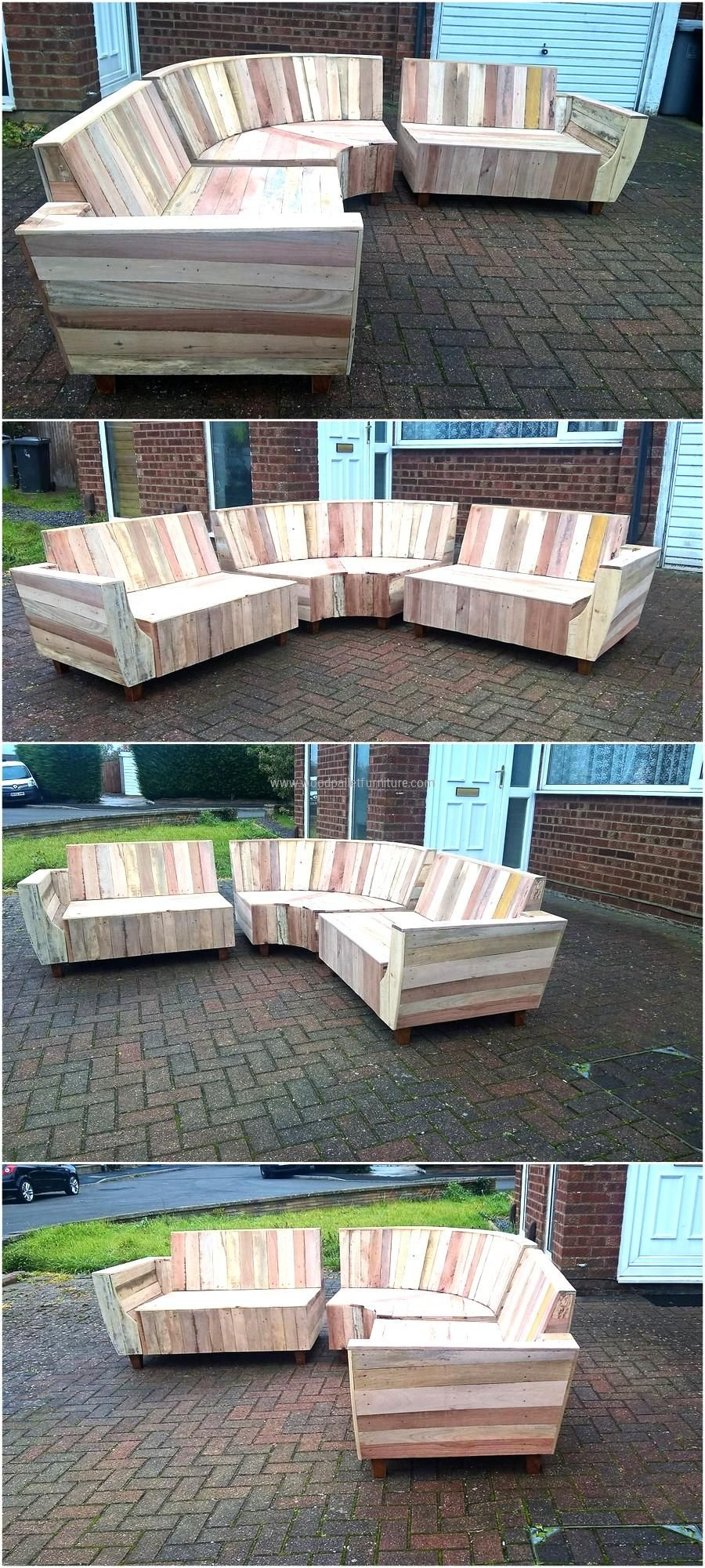 Outdoor Couch Set Made with Pallets Muebles hechos con
