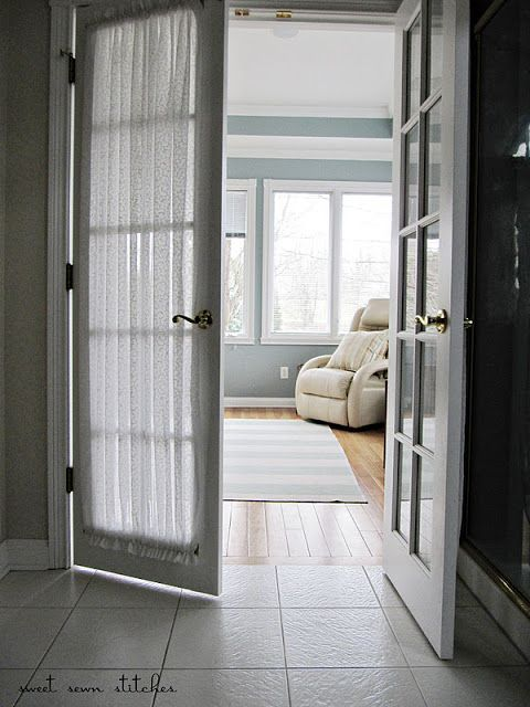 French door curtains - breakfast room Decorating Pinterest