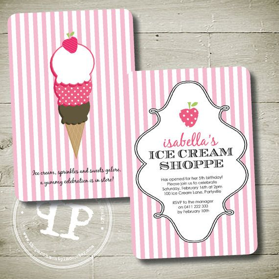 ICE CREAM PARTY   Custom Personalised Double by theparchmentplace, $16.00
