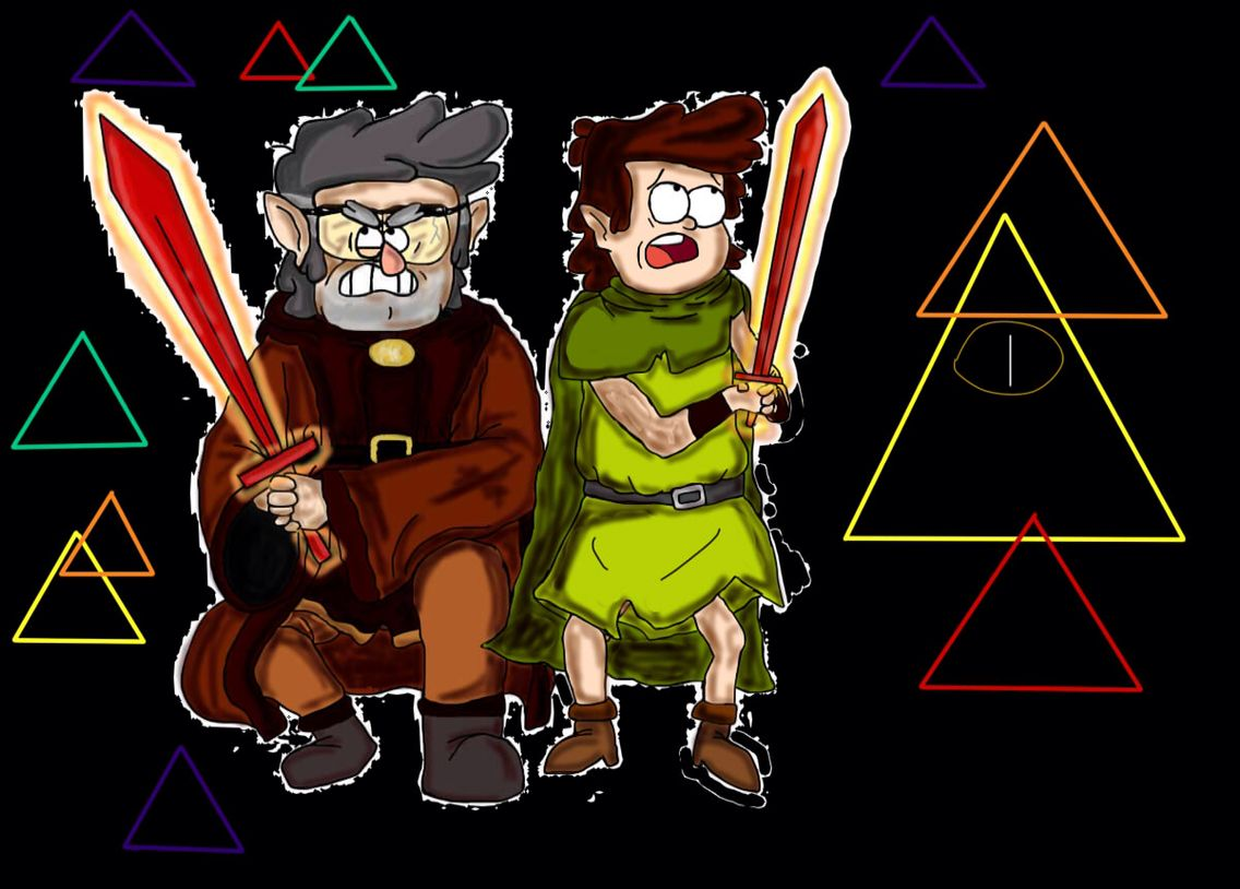 Gravity Falls Dipper and Ford in Dungeons, Dungeons and more Dungeons