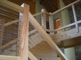 Best Douglas Fir And Cable Railing Stairs Timber Frame 400 x 300
