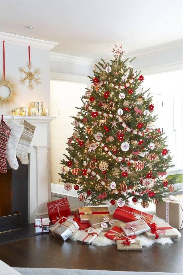 Red  White Christmas Pinterest Beautiful christmas trees