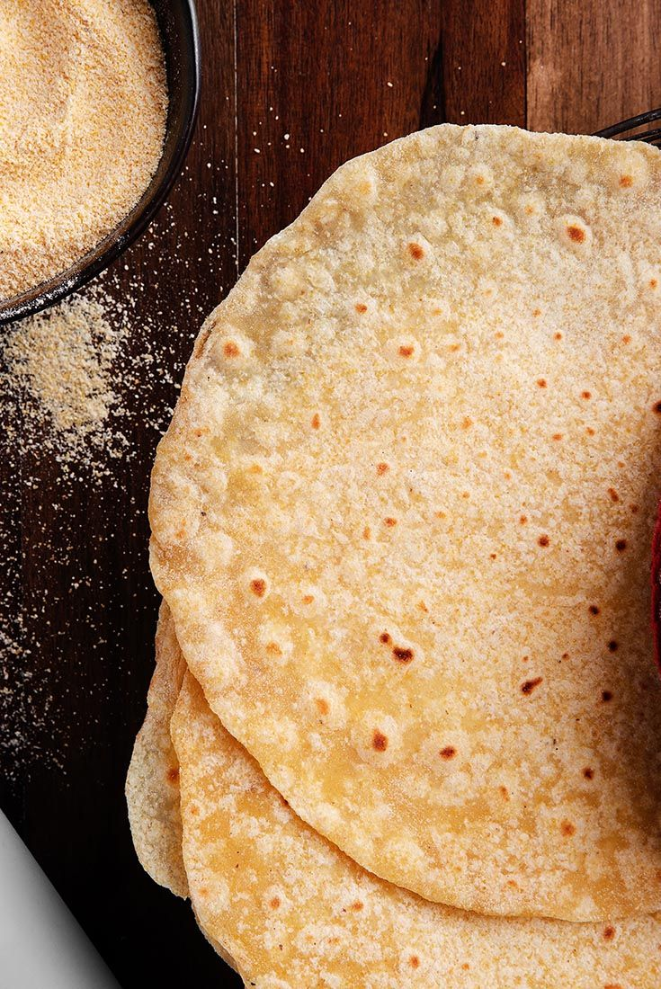 A Twist On A Classic Tortilla Combining The Sweetness Of Cornmeal With The Soft Texture Of Fl Corn Tortilla Recipes Cornmeal Recipes Cornmeal Tortillas Recipe