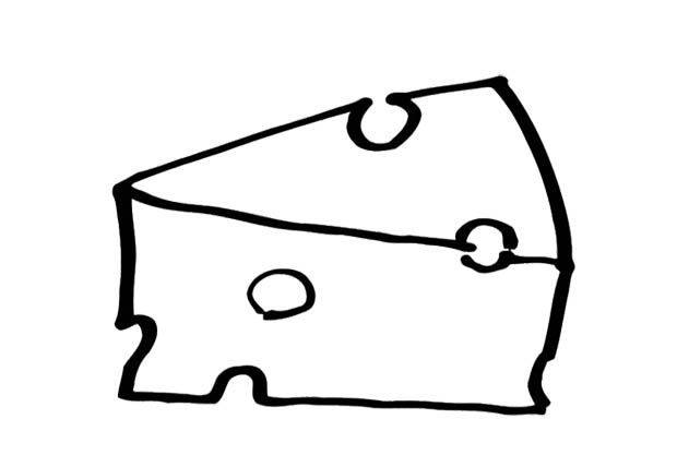 A Picture Cheese Coloring Page For Kids Coloring Pages For Kids Coloring Pages Color