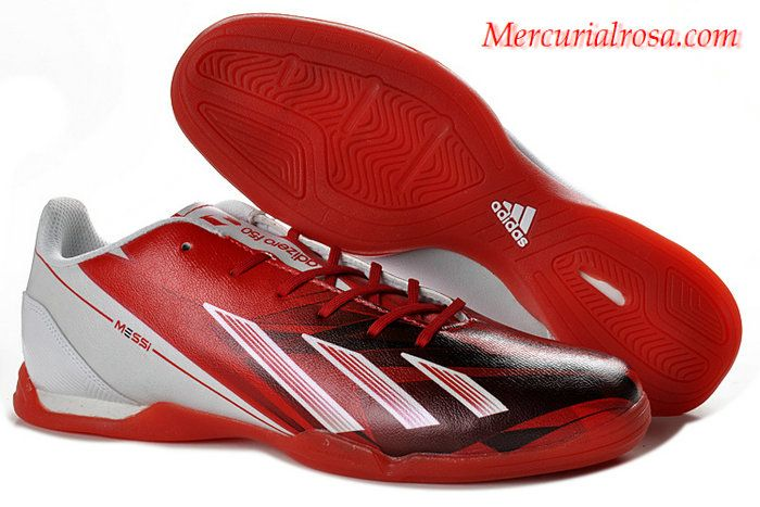 5d7c5506c Adidas F50 Adizero TRX IC Messi Indoor Soccer Shoes Red White Black Soccer  Shoes