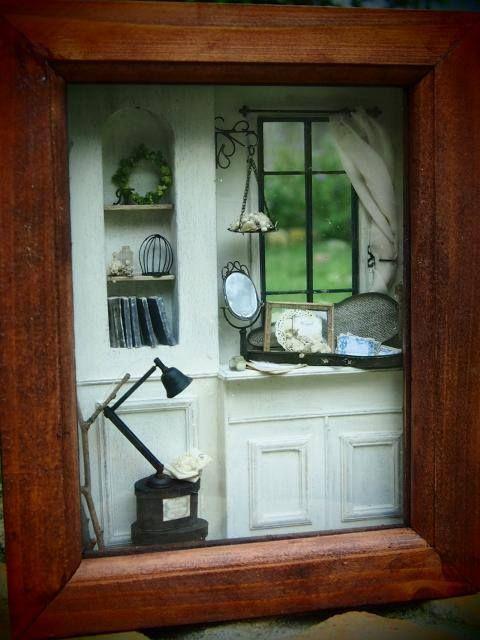 n original room box 4 pinterest vitrines cadres et miniature. Black Bedroom Furniture Sets. Home Design Ideas