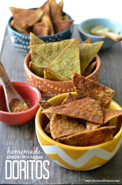Homemade Vegan Doritos 3 Ways Recipe Vegan Doritos Vegan