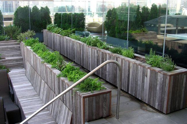 Wooden minimal terrace Terrace-Home-Public-Garden Pinterest - umgestaltung krautergarten dachterrasse